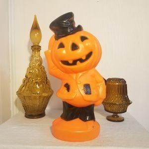 Vintage Pumpkin head figure blow mold tabletop